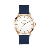 Guess - Silver Dial Blue Fabric Strap Men's Watch - £108.25 GBP