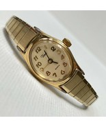 Vintage Timex Women's Gold Tone Expansion Stretch Bracelet Watch Works G... - $17.77