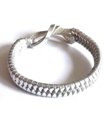 SILVER REAL LEATHER ADJUSTABLE  FRIENDSHIP WOVEN BRACELET WRISTBAND TIE ... - $6.93