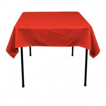 Tablecloth Overlay 60x60 - 100% Polyester Overlay - RED - $8.00