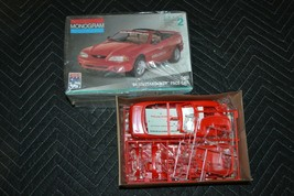 Monogram 2975 1994 Ford Mustang Model Car Kit Indy Pace Car Fs 1/25 Open Box - $13.99