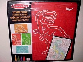 Melissa & Doug Red Textured Stencils Dinosaurs New - $19.79