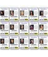 CRIMINAL MINDS COLLECTION 15 NAME BADGES PROPS HALLOWEEN COSPLAY PIN BACKS - $138.59