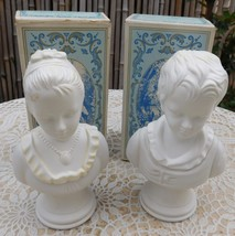 Vintage Avon Cologne Box 18th Century Classic Figurine Young Girl Boy SO... - $35.00