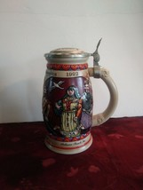 """Budweiser 1992 Discovery Of America Covered Beer Stein 8"""" Tall - $84.14"""
