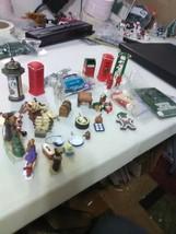 Large Lot of Christmas Village Items - Mailbox, Fire Hydrants, Dinnerwar... - $9.15