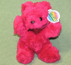 "VINTAGE SWIBCO PINK TEDDY BEAR RUBY STUFFED ANIMAL WITH HANG TAG 10"" PLU... - $23.38"