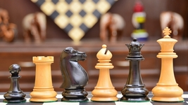 The Antique Circa 1880 Harwitz Staunton Series Chess Set in Ebony/Box Wood VJ051 - $431.99