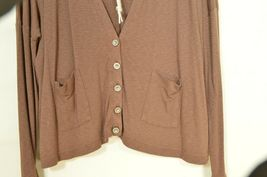 Michael Stars sweater OSFM brown cardigan dropped shoulders lightweight fall USA image 7