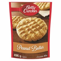 4 PACK Betty Crocker Peanut Butter Cookie Mix LARGE SIZE 496g From Canad... - $29.55