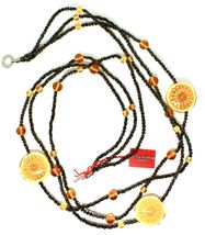 Necklace Antica Murrina Venezia with Glass of Murno Disc Beige & Gold CO724A10 image 3