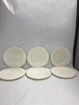 6 pc.WASHINGTON WAKEFIELD Lenox Dish VINTAGE mid century dessert bowl weave - $79.19