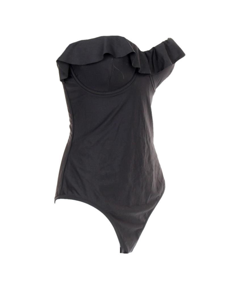 d5d5be66fdf1f ... J Crew Ruffle Underwire One Piece Swimsuit Bathing Suit Swim Black  G1736 0