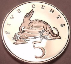Rare Proof Jamaica 1978 5 Cents~Only 6,058 Minted~American Crocodile~Free Ship - $5.93