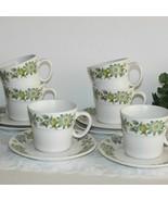 NORITAKE CHINA COLLEEN CUPS & SAUCERS PROGRESSION 9021 SET 6 VINTAGE JAP... - $45.99