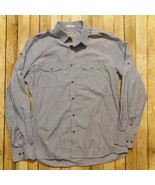 Express Fitted Men Military Style Shirt 100% Cotton Size L 16-16 1/2 - $14.85