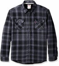 Levi's Men's Thorton Sherpa Lined Flannel Plaid Long Sleeve Button Shirt Jacket image 3