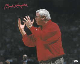 Bobby Knight signed Indiana Hoosiers 16x20 Photo (red sweater yell horiz... - $68.95