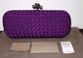 100% Authentic NEW Bottega Veneta  Stretch Knot Clutch in Purple Faille ... - $1,244.96