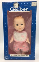 Vintage Gerber Baby Doll Drink Wet Sleep Eyes Jointed Plastic 1989 2 Out... - $19.95
