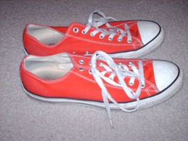 Converse All Star Sneakers Basketball Shoes Red Canvas Mens Size 11 / Womens  13 - $28.99