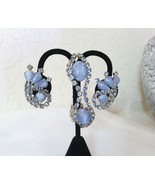 Blue Moonglow and Crystals Vintage Estate Jewelry Set  - $36.00
