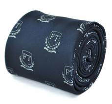 Frederick Thomas Navy Mens Tie & Frederick Thomas Crest Design FT1881 - $13.68