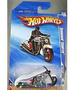 2010 Hot Wheels #112 HW City Works 4/10 SCORCHIN SCOOTER White w/Black M... - $8.00