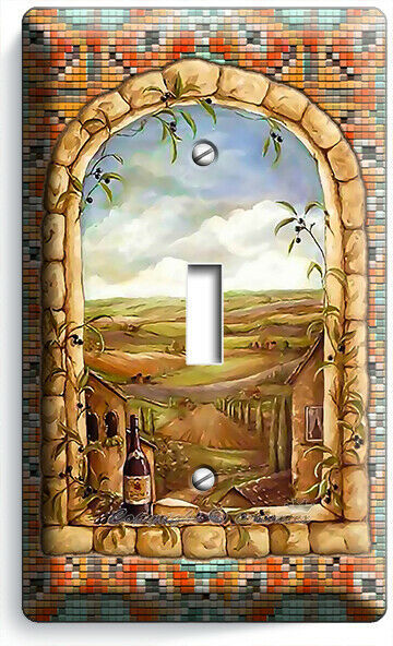 ITALIAN TUSCAN COUNTRY STONE ARCH WINDOW 1 GANG LIGHT SWITCH PLATE KITCHEN DECOR