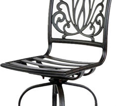 Outdoor bar stools set of 3 swivel patio aluminum furniture Elisabeth Bronze image 4