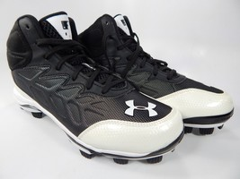 Under Armour Heater Mid TPU Sz 4.5 Y Boy's Jr Youth Baseball Cleats 1246696-011