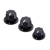 1 Set of 3 Plastic Control Knobs For Guitar Bass Parts Replacement A3