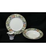 Mikasa Chelsea Court Chop Plate Vegetable Bowl Creamer Lot of 3 - $48.99