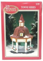Dickens Village Collectables Christmas Porcelain Gazebo 1997 Red Roof Towne - $18.22