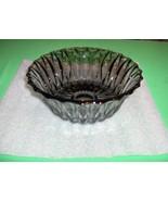 Vintage Libbey Glass Glass Serving Bowl Lrs45 Smoke Canada Diamond Scroll - $44.55
