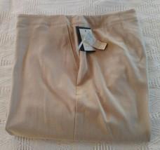 NWT Liz Claiborne Michaela Brown Flat Front Dress pants Size 14 - $35.64