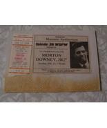 Morton Downey Jr 2/12/89 Ticket Stub & Ad Toledo Masonic Aud. Toledo 36 ... - $12.99
