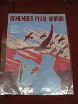 """Vintage Original """"Remember Pearl Harbor"""" Sheet Music - $24.74"""