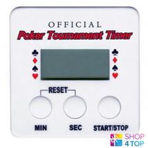 POKER TOURNAMENT DIGITAL TIMER COUNTDOWN ADJUSTABLE ALARM CLOCK OFFICIAL... - $12.46