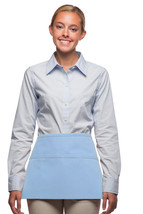 3 Pocket Waist Apron Light Blue Waiter Waitress Bar Staff Craft USA Made... - $11.61
