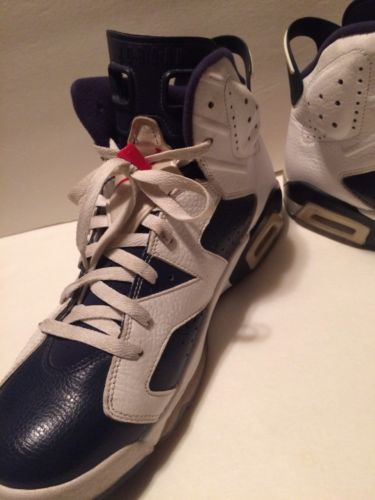 competitive price 44b94 d1a8b VNDS NIKE AIR JORDAN VI 6 RETRO OLYMPIC US 14 WHITE NAVY BLUE 384664-130