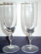 Wedgwood Barbara Barry Oval Link Champagne Flute Pair (2) Crystal New Boxed - $39.90