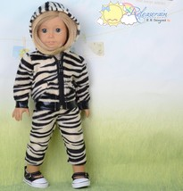 """Doll Clothes Outfit Beige/Black Tiger Hoodie Jacket Pants For 18"""" Americ... - $20.78"""