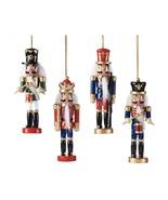 Set of 4 Nutcracker Tree Ornaments Hanging Wooden Decorations  - $43.99