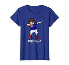 New Shirts - Funny Dabbing Soccer Boy Australia T Shirt - Football Gift Wowen image 3