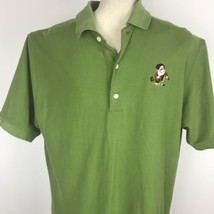 Disney World Grumpy Short Sleeve Cotton Green Polo Shirt Greg Norman Size XL - $39.59