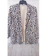 Chico's Sz 1 Leopard Print Womens Medium Lightweight Jacket Blazer - $40.99