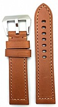 24mm Long, Brown, Panerai Style, Smooth Leather Watch Band - $40.91