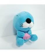 """Otter Blue Bono Bono Pink Seashell Plush Stuffed Animal 5"""" Shinada Globa... - $21.77"""