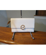 Authentic Michael Kors Lillie Large Carryall Optic White Soft Leather Wa... - $89.09